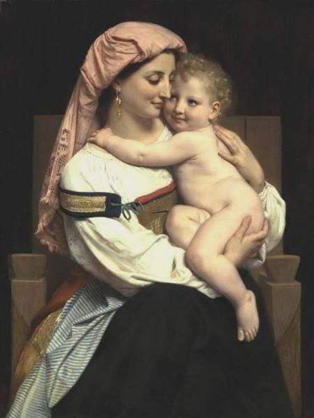 Femme de Cervara et Son Enfant 1861